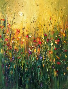 Flower painting by Georgi Petrov Abstract Flowers, Art Pictures, Landscape Paintings, Amazing Art, Watercolor Art, Photo Art, Canvas Art, Big Canvas, Art Photography