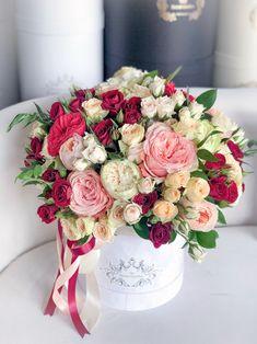 Flower Box Gift, Flower Boxes, My Flower, Birthday Wishes Flowers, Happy Birthday Flower, Home Flowers, Luxury Flowers, Beautiful Flower Arrangements, Floral Arrangements