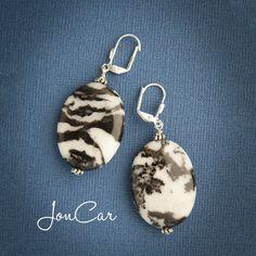 Black and Silver Zebra Earrings! Totally hot! $14.00