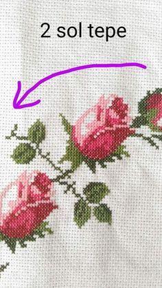 Discover thousands of images about İsim: Görüntüleme: 1331 Büyüklük: KB (Kilobyte) Embroidery Applique, Cross Stitch Embroidery, Cross Stitch Designs, Cross Stitch Patterns, Cross Art, Baby Dress Patterns, Cross Stitch Rose, Prayer Rug, Filet Crochet