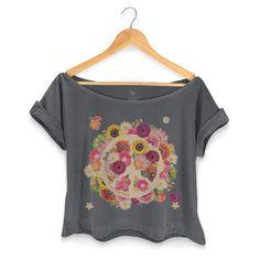 T-shirt Premium Feminina Woodstock Flowers Peace #woodstock