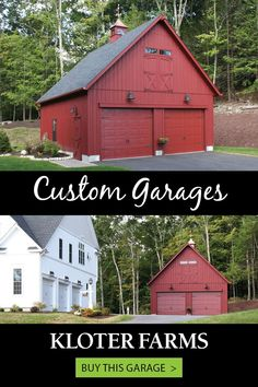 Tell us what you want and we'll make it happen. This 24x28 Elite garage is exactly what the customer wanted, down to the very last detail. What can we build for you? #kloterfarms #2cargarage #storage L Shaped Stairs, What The Customer Wanted, Loft Door, Ridge Vent, Gable Vents, Custom Garages, Transom Windows, Backyard, Patio
