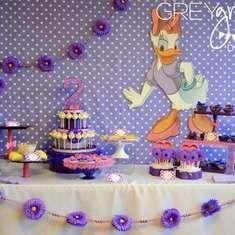 Daisy Duck birthday party ideas.