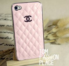 Fashion chanel leather iphone 4 case iphone 4s by Tomfashionplace, $15.00