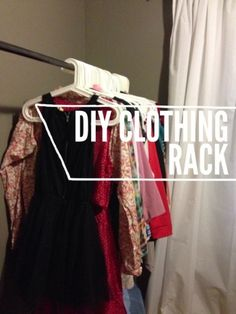 DIY Garment Rack. I'd use this idea for my seasonal workplace too. So cheap and how much easier would it be on us to have these to whip up and have?!