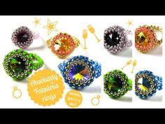 Absolutely Fabulous Ring Tutorial - YouTube - 12mm rivoli