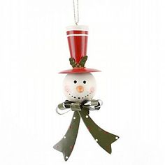 Christmas Snowman Hanging Decoration