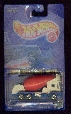 Hot Wheels 1991-144 Oshkosh Cement Mixer All Blue Card 1:64 Scale by MATTEL. $5.39. ALL BLUE CARD. 1:64 Scale Die-Cast Collectible Car