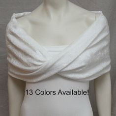 Simple & dressy, but not too dressy  Ivory Velvet Shrug Bolero Bride Bridal Capelet Bridal by boubo, $53.00