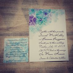#watercolor #wedding #invitations #maui by www.luckytobeinlove.com #flowers #painting Invitation Card Design, Invitation Cards, Invites, Wedding Invitations, Watercolor Wedding, Maui, Card Making, Paper Crafts, Wedding Ideas