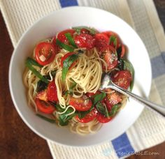 """I've been making this lite pasta dish for many years now. It is one of my favorite summer go-to's! [Tweet """"Simply Lite #Summer #AngelHairPasta""""]  All the ingredients inthis recipe..."""