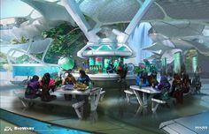 Concept art done for Mass Effect Andromeda - Angaran city - Aya Level artist - Hayden Duvall, Alexis Dumas