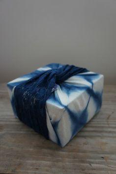 Indigo Kit with Shibori Wrapper. Dye your own sheets, shirts and stuff!! Neeeeeed