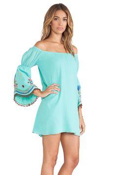 VAVA by Joy Han Willow Off Shoulder Dress in Aqua