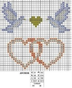Motivos para bodas en punto de cruz  Novias en punto de cruz  Alianzas de boda en punto de cruz  Parejas de novios en punto de cruz        ...