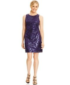 $66 T8 Jessica Howard Sleeveless Sequined Cocktail Dress