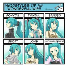 My many different hairstyles
