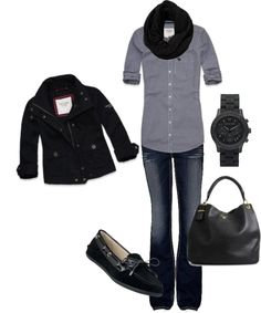"""Casual Winter Day"" by honeybee20 on Polyvore"