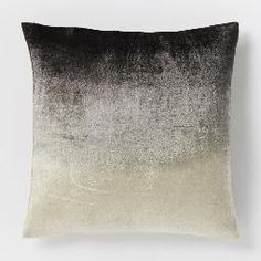 Ombre Velvet Pillow Cover - Slate from West Elm. Shop more products from West Elm on Wanelo. Bed Throws, Bed Pillows, Accent Pillows, West Elm Bedding, Modern Pillows, Velvet Cushions, Luxury Cushions, Decorative Pillow Covers, New Furniture