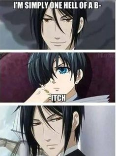 Sorry, couldn't resist :-p (Sebastian Michaelis, Ciel Phantomhíve, Black Butler, Kuroshitsuji) found on Facebook :)