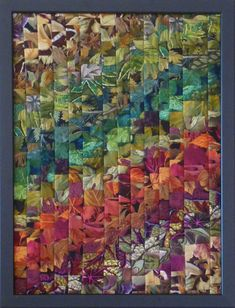 Automne IMAPATCH 2017 Bargello Quilts, Scrappy Quilts, Mini Quilts, Quilt Inspiration, Watercolor Quilt, Quilt In A Day, Rainbow Quilt, Flower Quilts, String Quilts