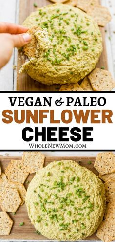 Are you avoiding dairy, but you love cheese? How about trying this Dairy-free Cheese? This Vegan Sunflower Seed Cheese makes a great appetizer or spread for dipping, putting on crackers, or spreading on wraps! Vegan Cheese Recipes, Dairy Free Recipes, Whole Food Recipes, Vegetarian Recipes, Healthy Recipes, Healthy Dips, Gluten Free, Vitamix Recipes, Easy Recipes