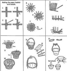 Basketry in newspaper (Chinese basketry). Paper BasketBasket WeavingPaper … You are in the right place about DIY Gifts for cousins … Paper Basket Weaving, Basket Weaving Patterns, Willow Weaving, Newspaper Basket, Newspaper Crafts, Newspaper Paper, Magazine Crafts, Weaving Projects, Cardboard Crafts