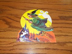 Vtg Made in USA Halloween Witch Die Cut Cardboard Decoration Cut Out Unused   eBay Vintage Ephemera, Vintage Halloween, Trick Or Treat, Halloween Decorations, Nostalgia, Witch, Ebay, Witches, Witch Makeup