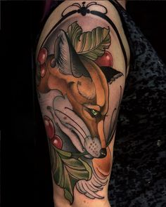 Fox tattoo by https://www.instagram.com/imchrisgreen/