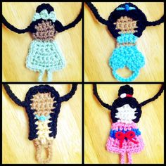 Crochet Disney Princess styled Barefoot by HarvesterProducts
