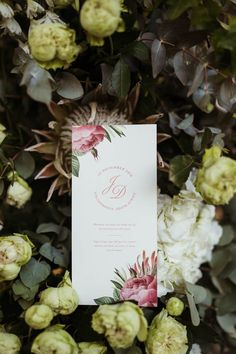 Pink and white invitation | Image by Julia Wade Photography