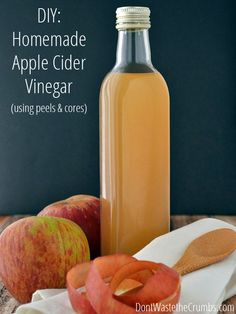 DIY Homemade Apple Cider Vinegar (Using Peels And Cores) | Handy & Homemade