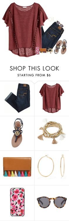 """""""Baby Shower today! {read d}"""" by remiii13 ❤ liked on Polyvore featuring American Eagle Outfitters, H&M, Tory Burch, Forever 21, Rebecca Minkoff, Red Camel, Kate Spade and Illesteva"""