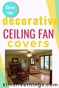 Genius ideas for updating an old ceiling fan. Tropical ceiling fan covers.