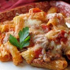 Italian Rigatoni Casserole Allrecipes.com