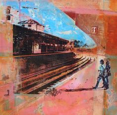 Dan Parry-Jones. The Commuters. Love this. Love all his stuff actually. His use of colour is amazing.