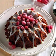 Cranberry-Orange Cake with Lemon Glaze Recipe Taste of Home - Potluck Desserts recipes, Potluck Recipes recipes, Thanksgiving Desserts Cranberry Orange Cake, Cranberry Dessert, Cranberry Almond, Cranberry Recipes, Orange Recipes, Baking Recipes, Cake Recipes, Dessert Recipes, Baking Ideas