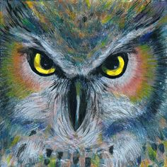 Owl Simone Manley @Simbotic Owls, Paintings, Bird, Fun, Animales, Paint, Painting Art, Owl, Draw