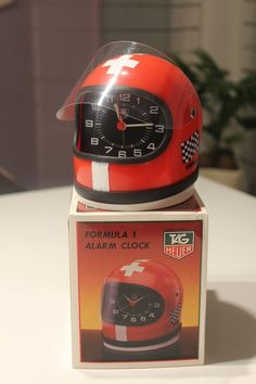 Tag Heuer F1 Helmet Alarm Clock Vintage And Rare Swiss Flag, Tag Heuer Helm Uhr  | eBay