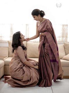 Kerala Wedding Saree, Bridal Sarees South Indian, Kerala Bride, India Wedding, Saree Wedding, Asian Bridal, Engagement Dress For Bride, Engagement Saree, Engagement Makeup