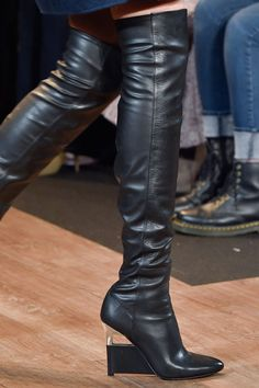 LSC | Style - BCBG Max Azria Fall 2015 NYFW- Black leather over the knee boots  Luxuryshoeclub.com