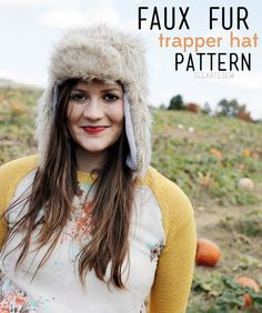 see kate sew: FAUX FUR: trapper hat (free pattern!)