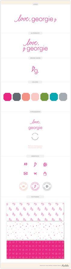 Brand identity design for Love, Georgie, a jewelry designer. Logo by Aeolidia.