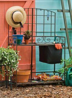 Lindo mueble de hierro para llenar de plantitas