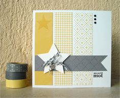 Diy paper crafts cards washi tape 33 Ideas for 2019 Paper Cards, Diy Paper, Diy Cards, Photo Album Scrapbooking, Scrapbook Paper, Washi Tape Cards, Masking Tape, Card Making Templates, Square Card