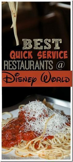 Best Quick Service Restaurants at Disney World ~~~~~ GREAT list!!! Super helpful for Disney World Planning. Includes top 10 plus the highlights (good and bad) of 40 more quick service restaurants at Magic Kingdom, Epcot, Hollywood Studios, and Animal Kingdom.
