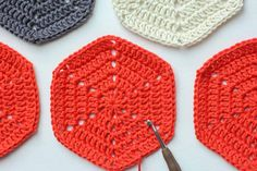 How to make a basic crochet hexagon. Perfect foundation piece for afghans, pillows or even clothes!
