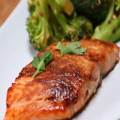Maple-glazed Salmon Recipe by Tasty