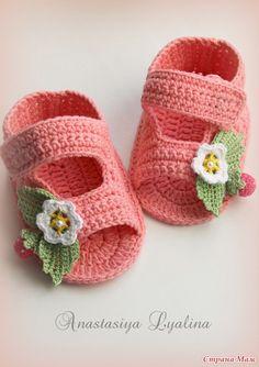 Como hacer unas sandalias a crochet para bebes02