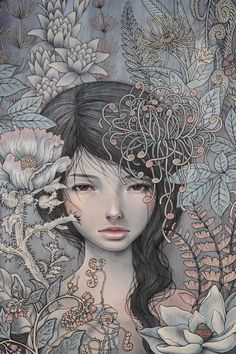"""Where I Rest - by Audrey Kawasaki 2011. Open edition 15"""" x 23"""" (38 x 58cm) Giclee on white art paper Signed in pencil"""